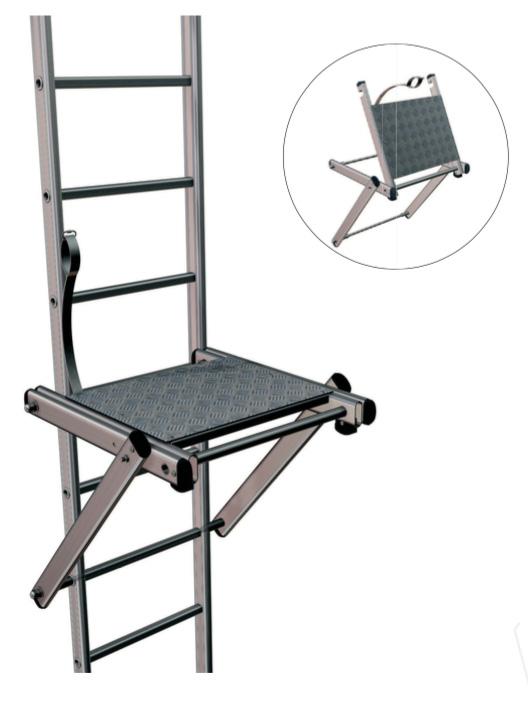 chelle crinoline aluminium paliers de repos escamotable cleas protection. Black Bedroom Furniture Sets. Home Design Ideas