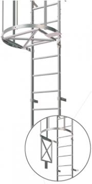 Trappe pour échelle à crinoline