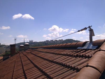 Ligne de vie sur toiture