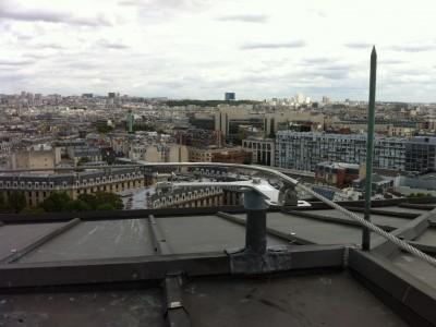 Dispositif d'ancrage pour ligne de vie sur toiture