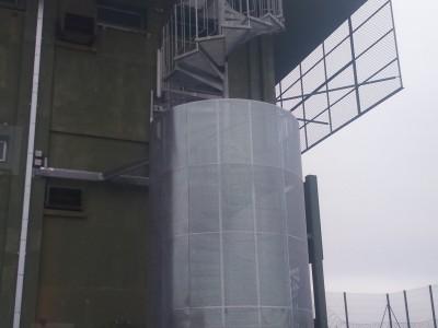 Escalier industriel hélicoïdal