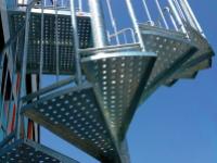 Escalier hélicoïdal réversible