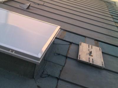 Point d'ancrage sur toiture