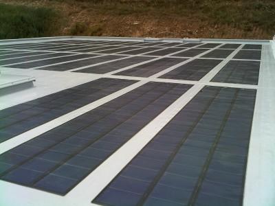 Protection de panneaux solaires sur un toit