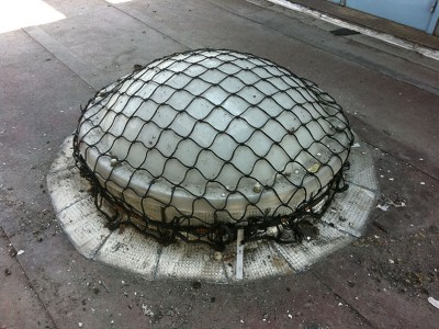 Filet de protection sur toiture