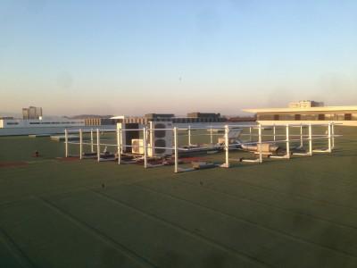 Installation de garde-corps sur toit