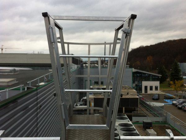 Accès sécurisé à un toit