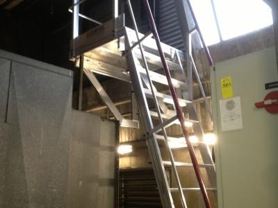 Escalier industriel d'accès