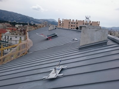 Ligne de vie sur toit