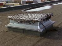 Filet de protection provisoire pour lanterneau