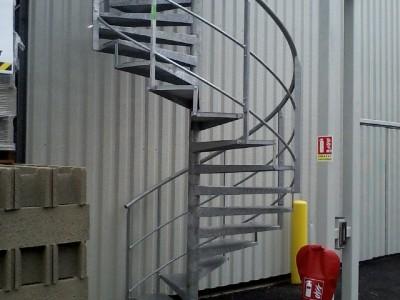 Escalier hélicoïdale industriel